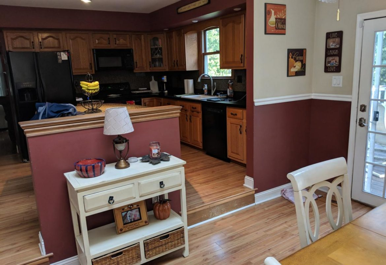 Jamison kitchen & 1st floor before remodel