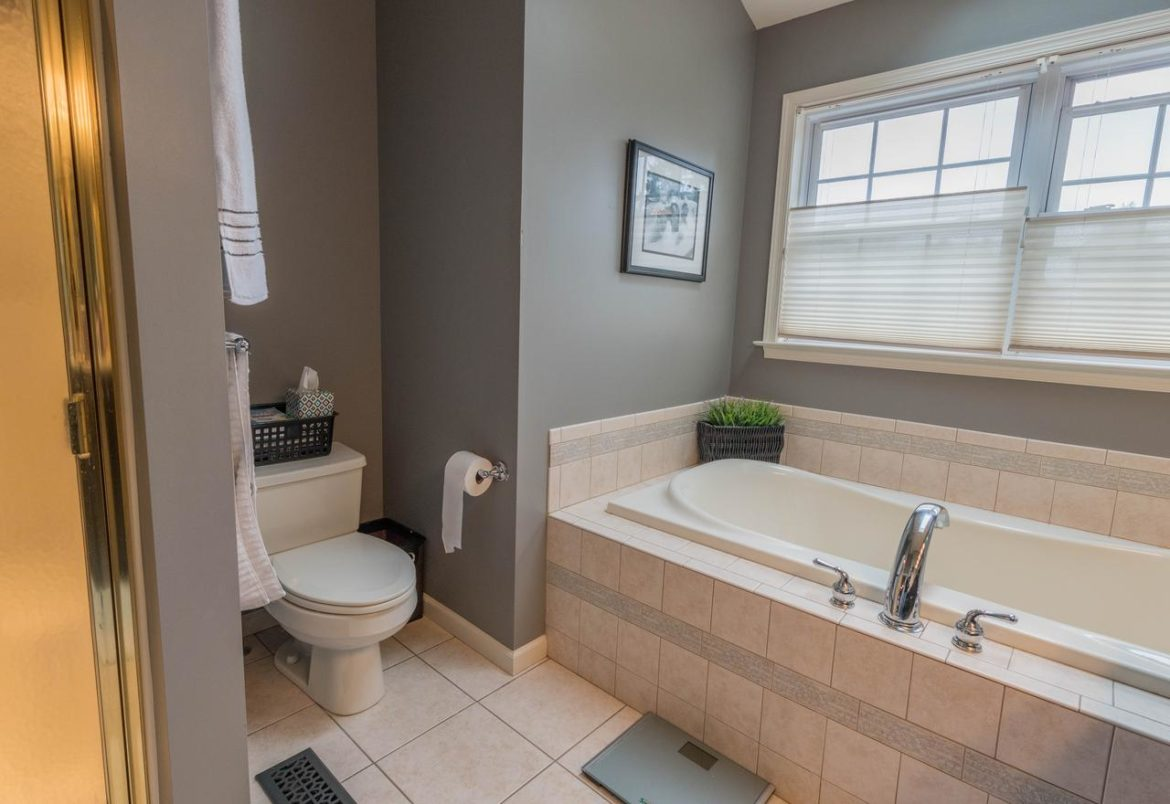 Phoenixville master bath before remodel
