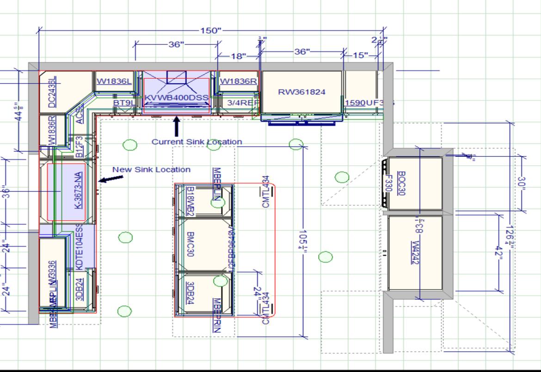 Southampton kitchen floorplan