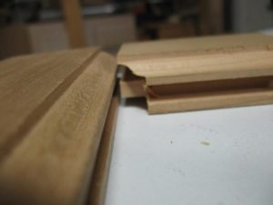Cope and tenon door frame